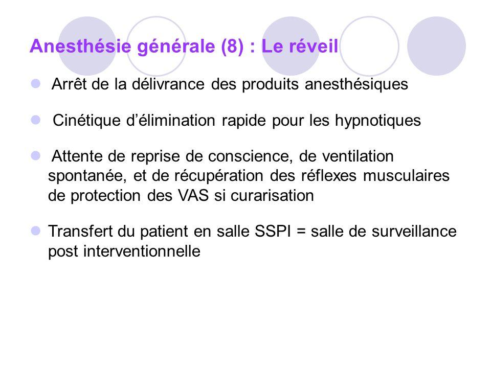 Anesthésie générale (8) : Le réveil