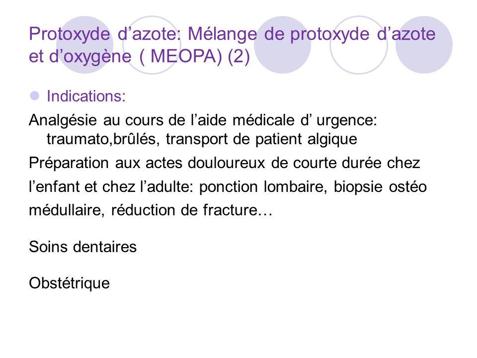 Protoxyde d'azote: Mélange de protoxyde d'azote et d'oxygène ( MEOPA) (2)