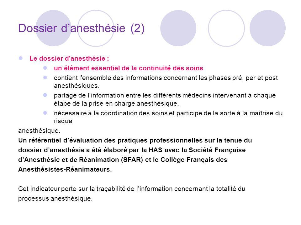 Dossier d'anesthésie (2)