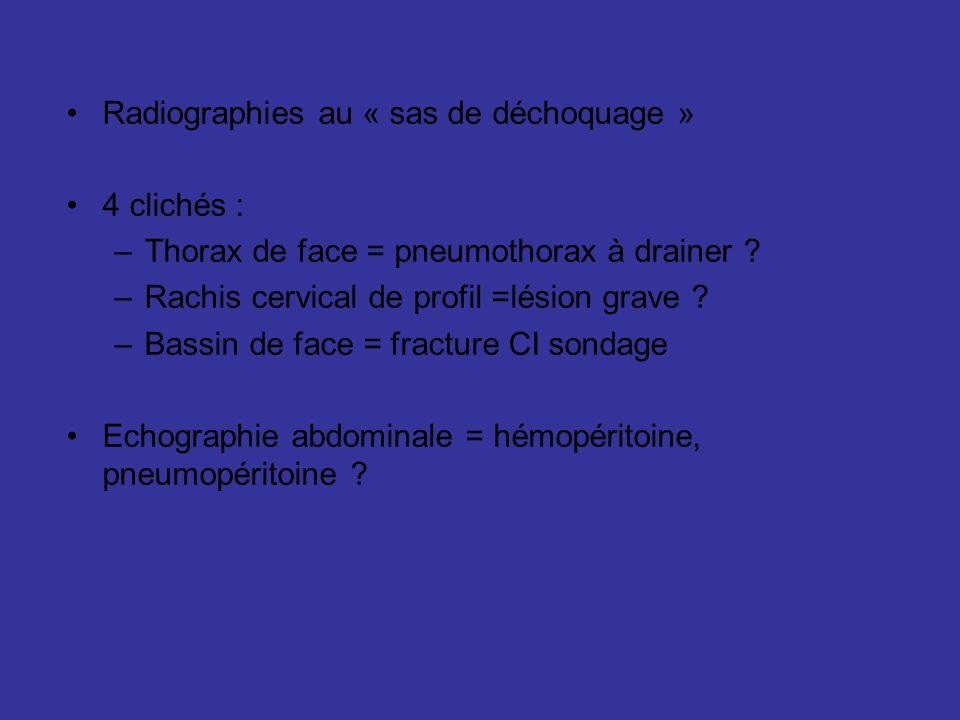 Radiographies au « sas de déchoquage »