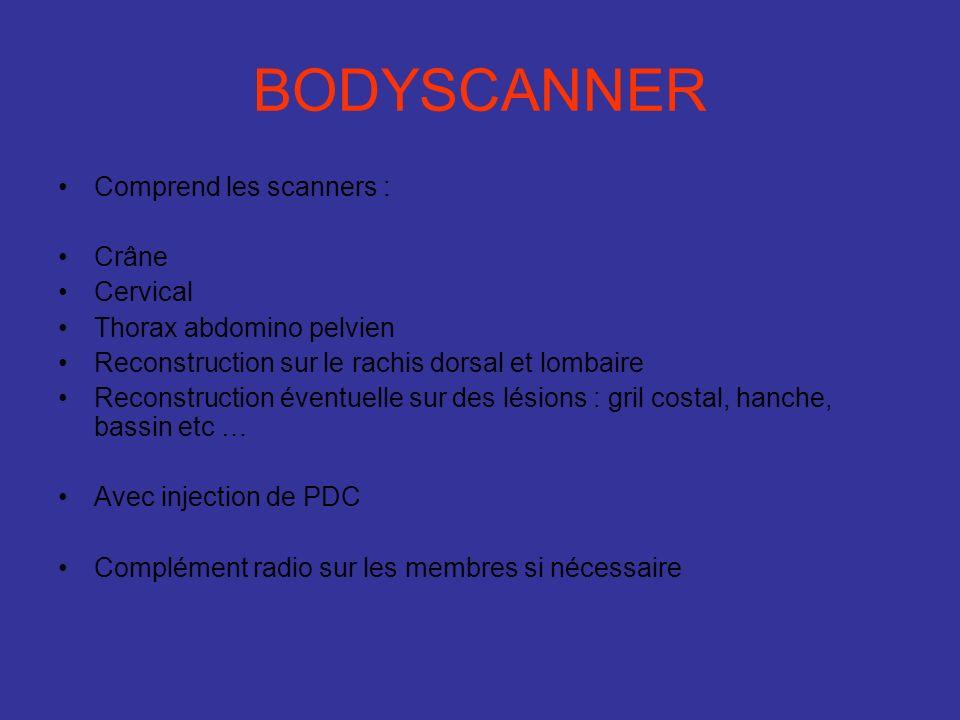BODYSCANNER Comprend les scanners : Crâne Cervical