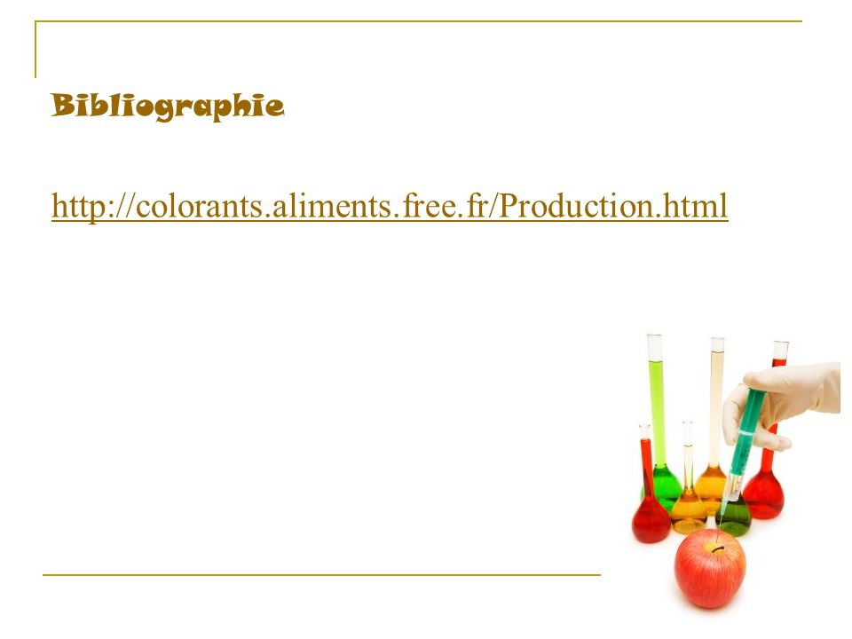 Bibliographie http://colorants.aliments.free.fr/Production.html