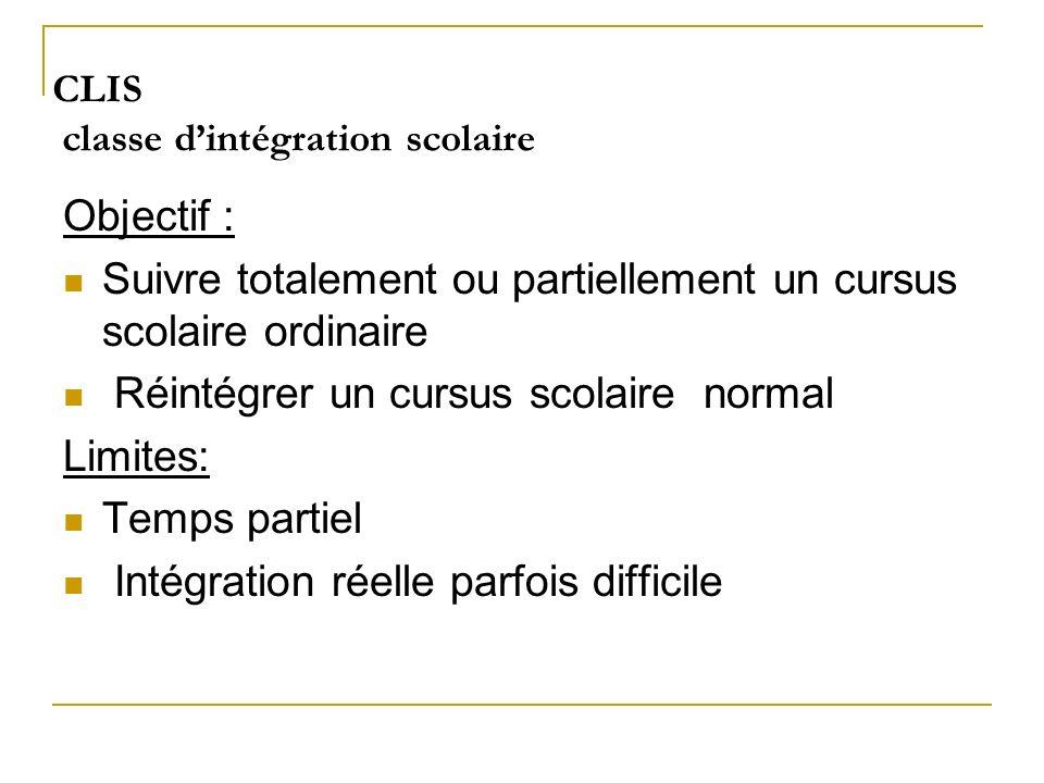 CLIS classe d'intégration scolaire