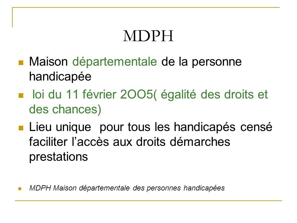 MDPH Maison départementale de la personne handicapée