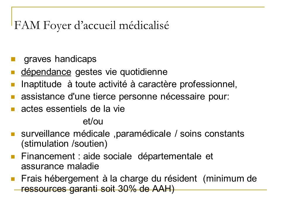 FAM Foyer d'accueil médicalisé