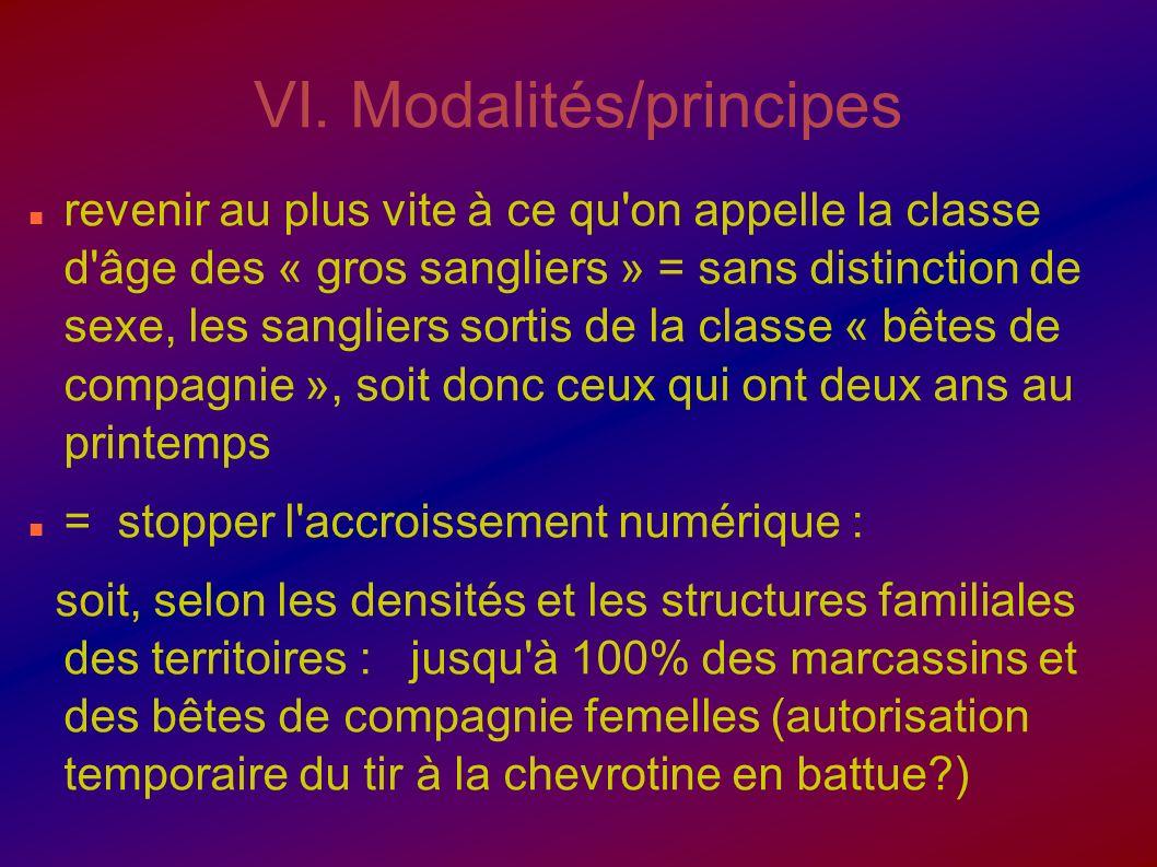 VI. Modalités/principes