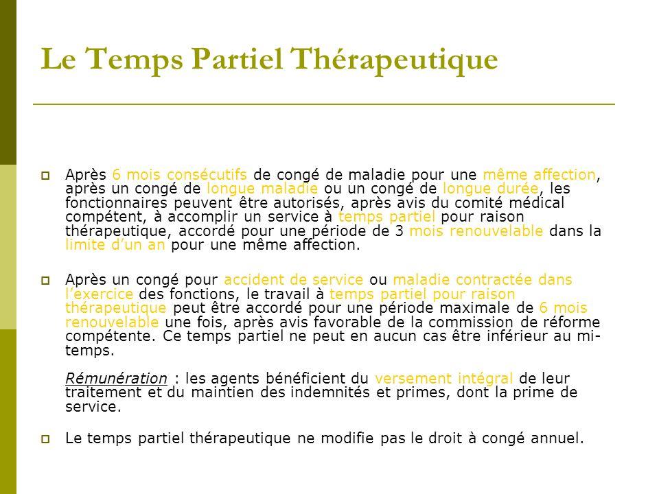 Le Temps Partiel Thérapeutique