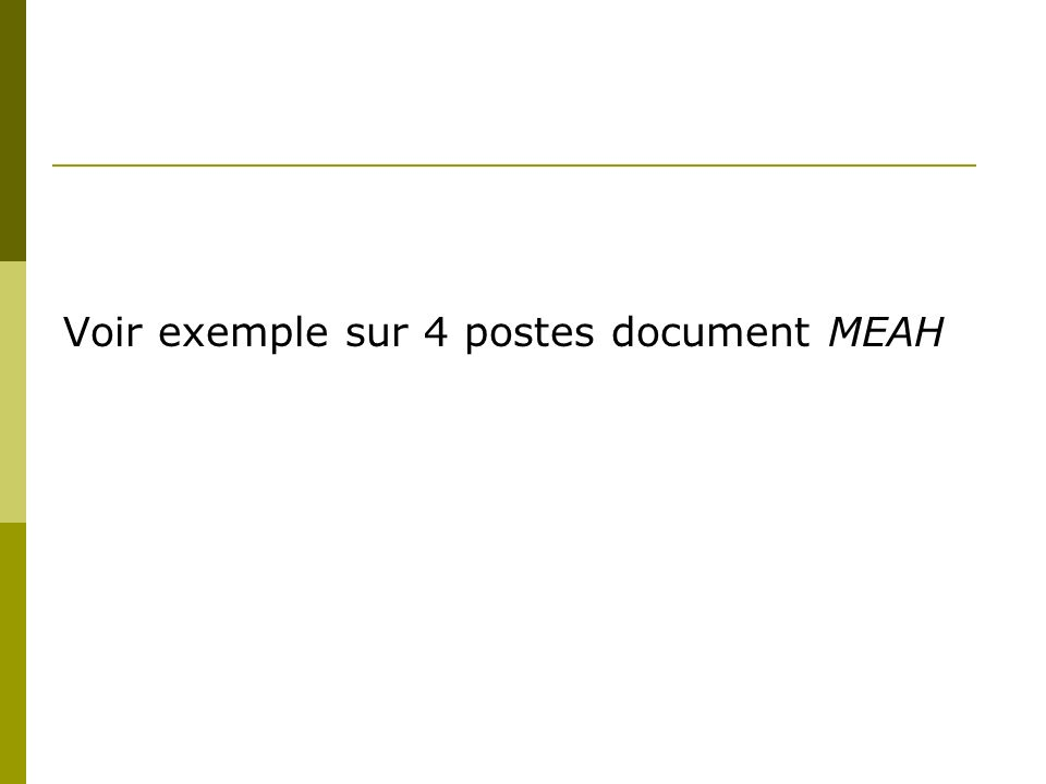 Voir exemple sur 4 postes document MEAH