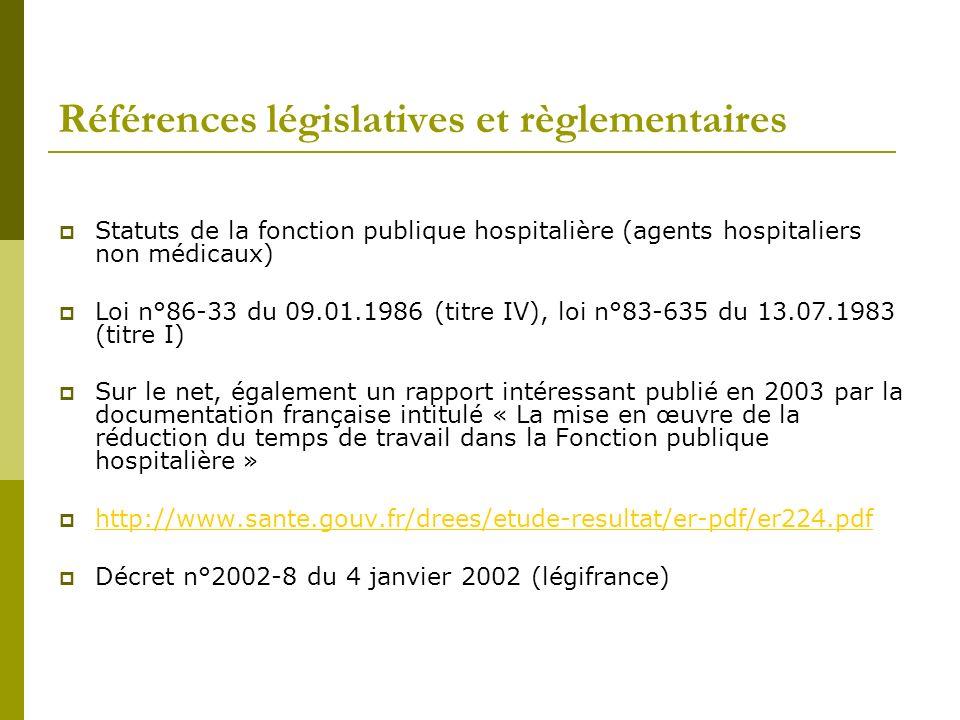 Références législatives et règlementaires