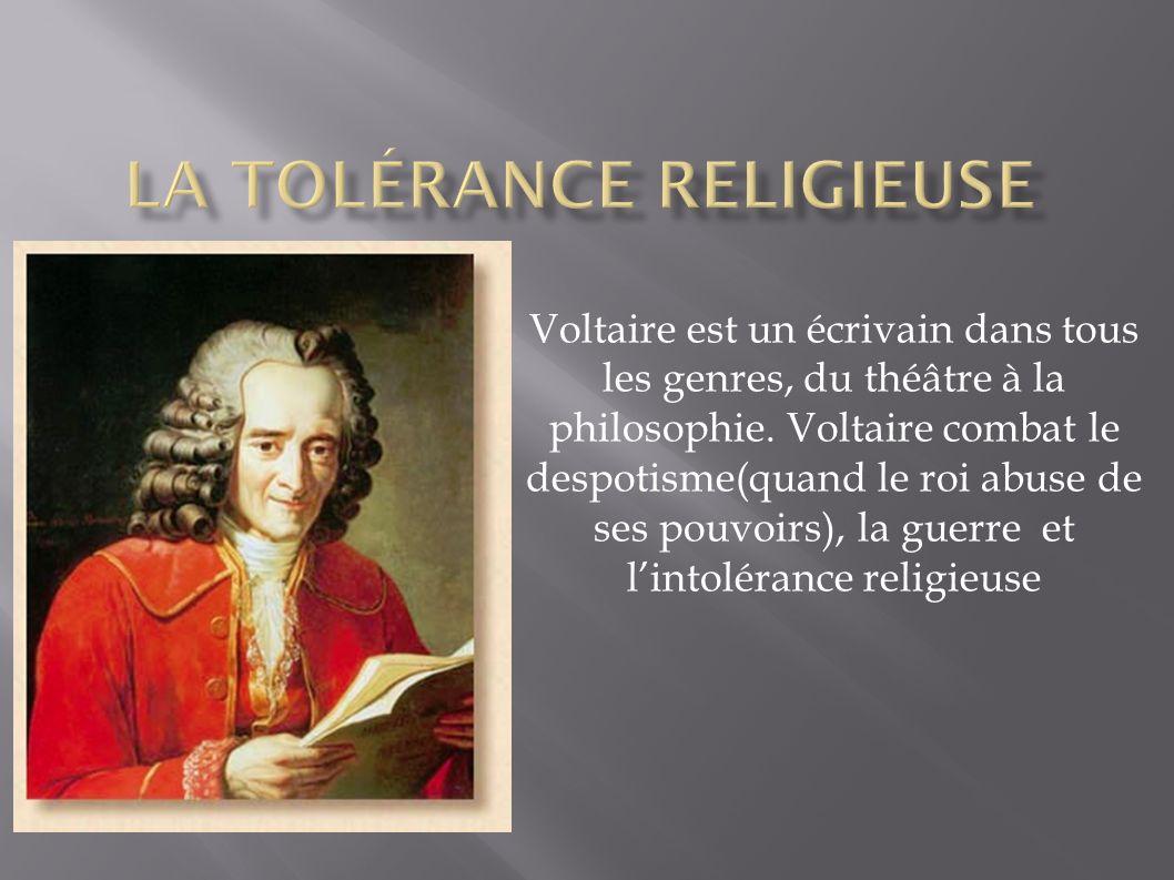 La tolérance religieuse
