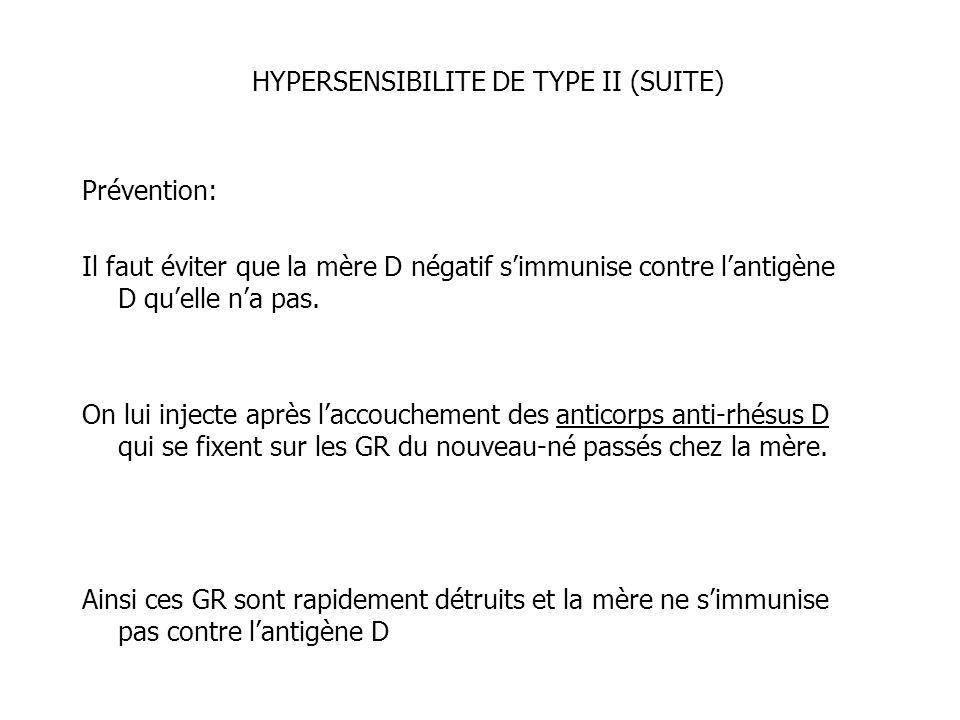 HYPERSENSIBILITE DE TYPE II (SUITE)