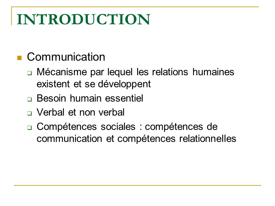 INTRODUCTION Communication