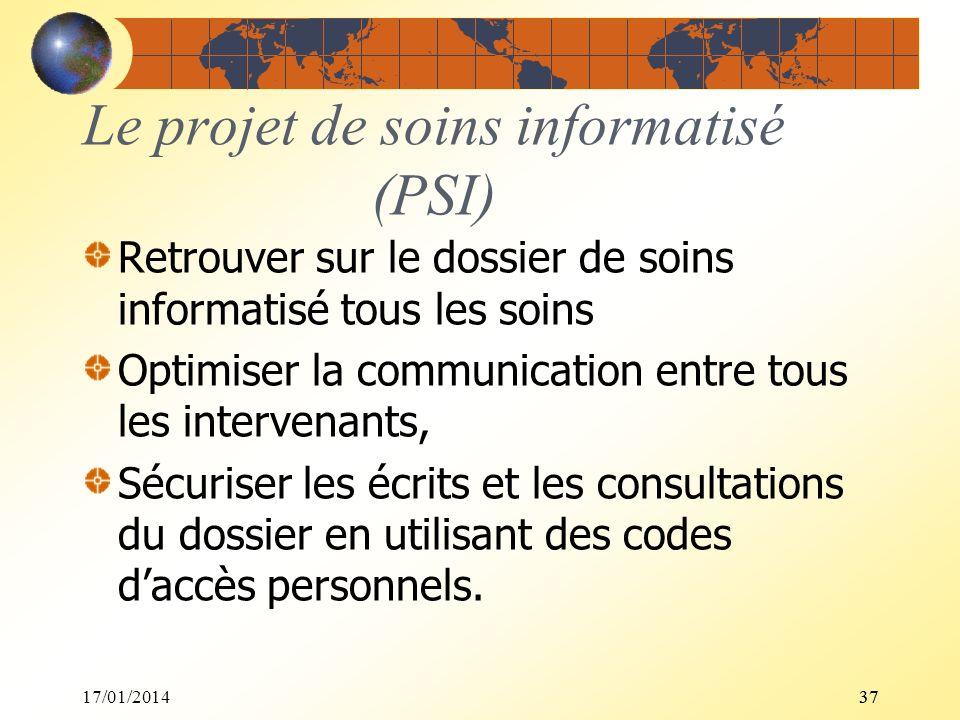 Le projet de soins informatisé (PSI)