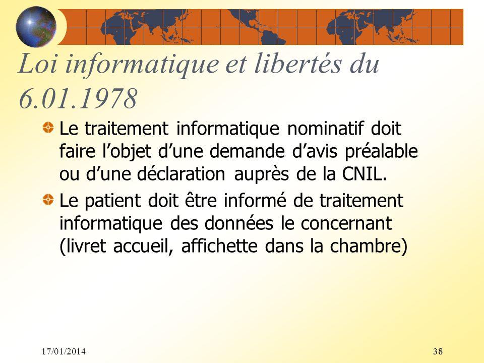 Loi informatique et libertés du 6.01.1978