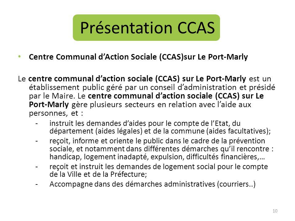 Présentation CCAS Centre Communal d'Action Sociale (CCAS)sur Le Port-Marly.