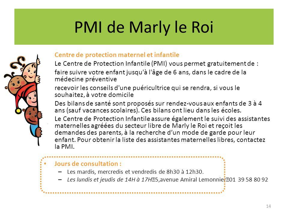 PMI de Marly le Roi Centre de protection maternel et infantile