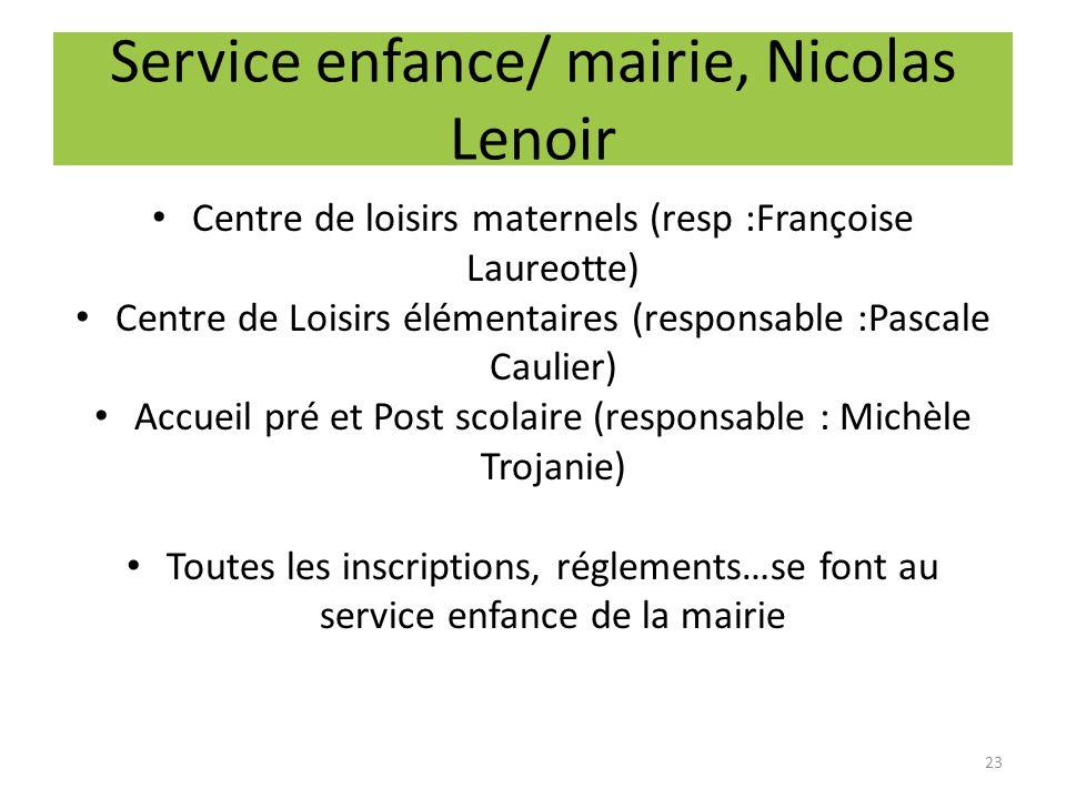 Service enfance/ mairie, Nicolas Lenoir
