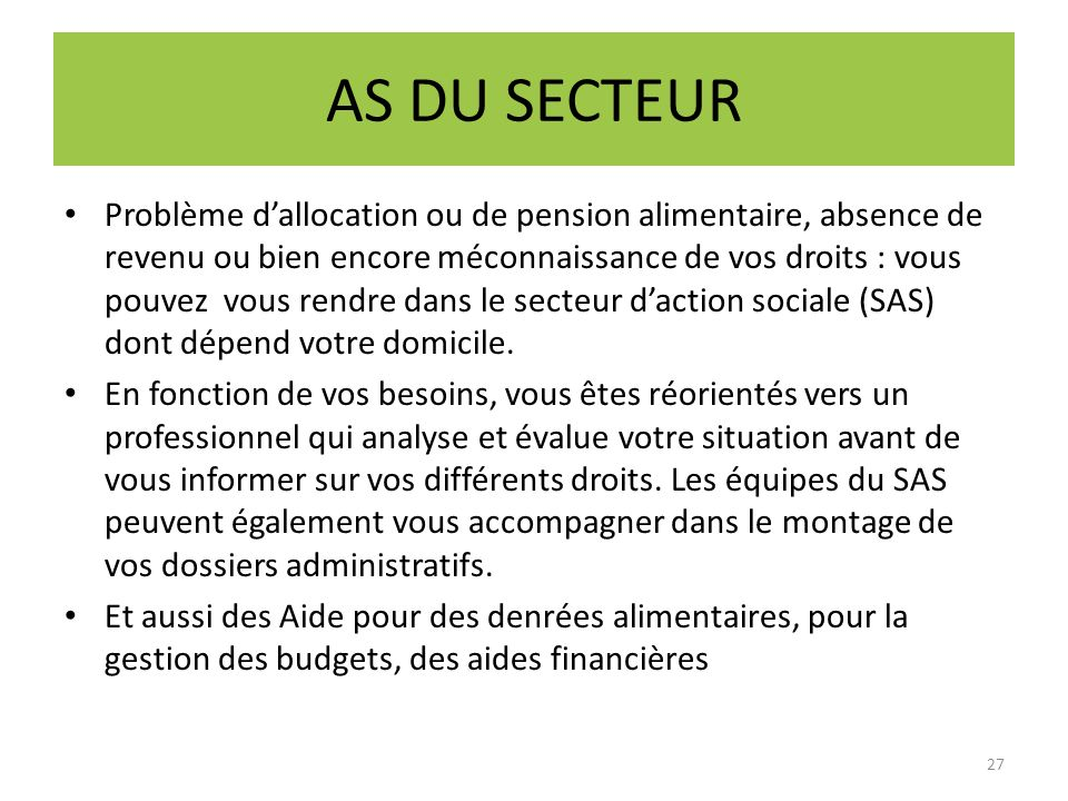 AS DU SECTEUR