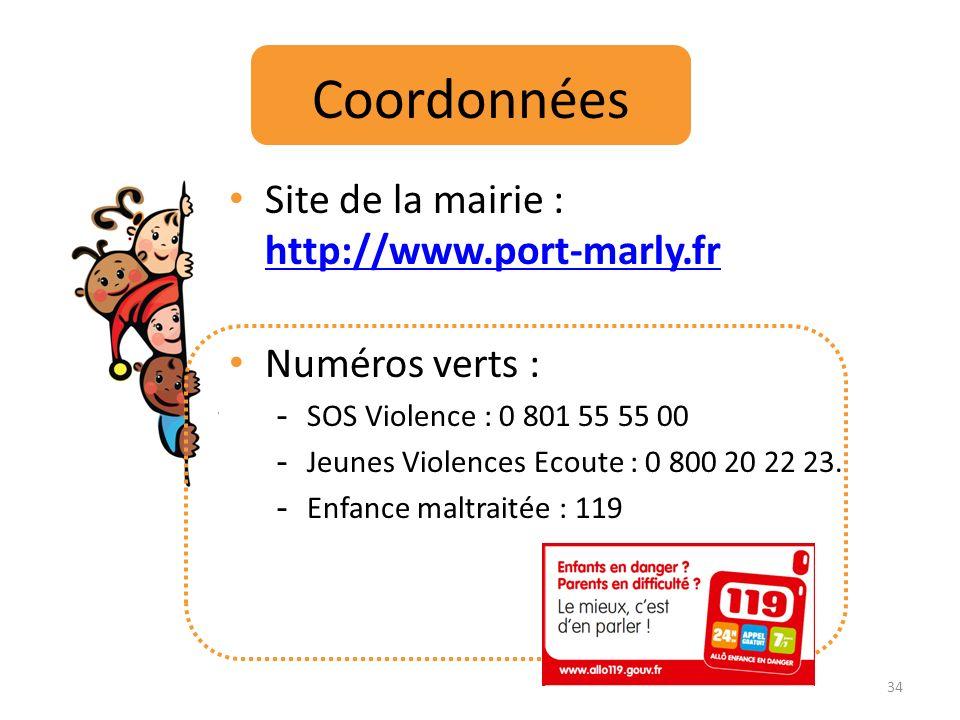 Coordonnées Site de la mairie : http://www.port-marly.fr