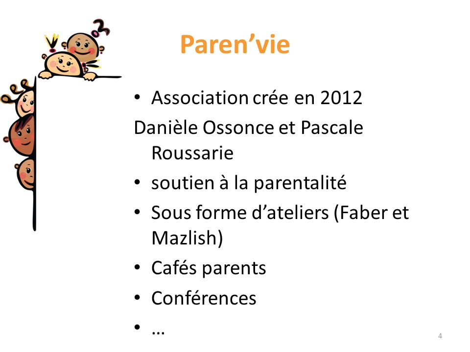 Paren'vie Association crée en 2012