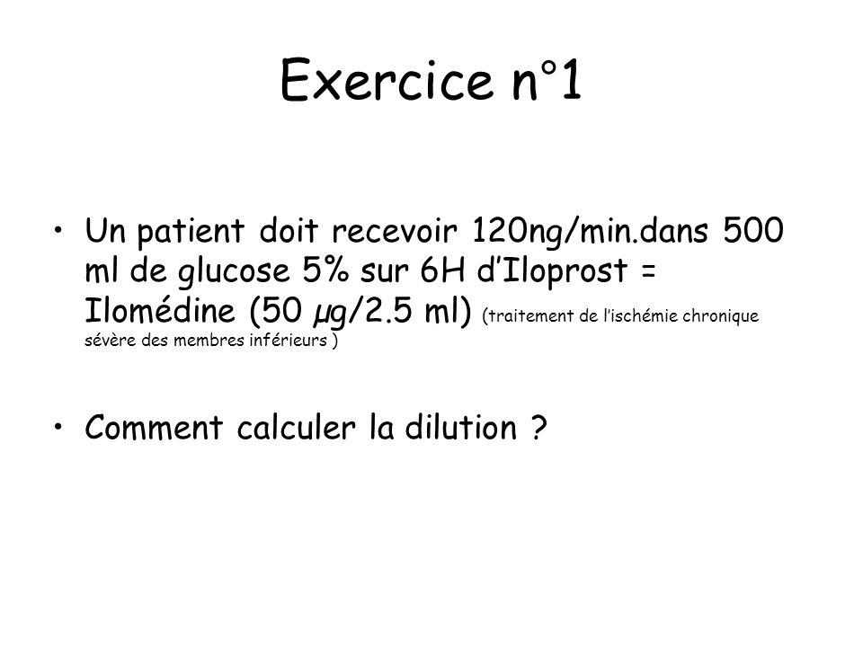 Exercice n°1