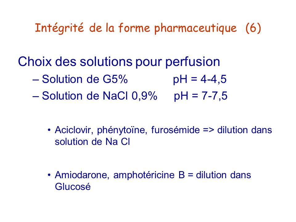 Intégrité de la forme pharmaceutique (6)