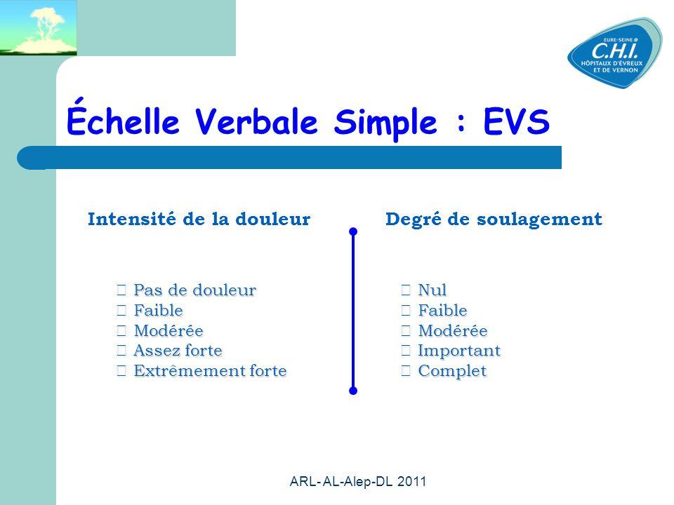Échelle Verbale Simple : EVS