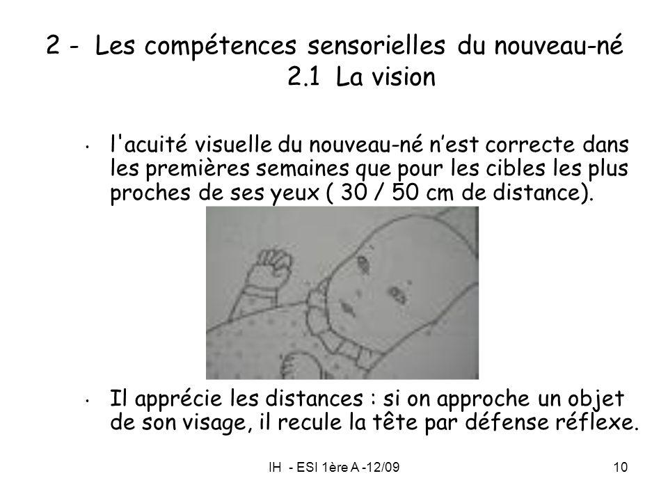 2 - Les compétences sensorielles du nouveau-né 2.1 La vision