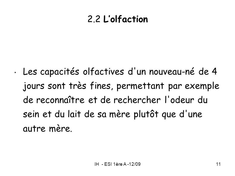 2.2 L'olfaction