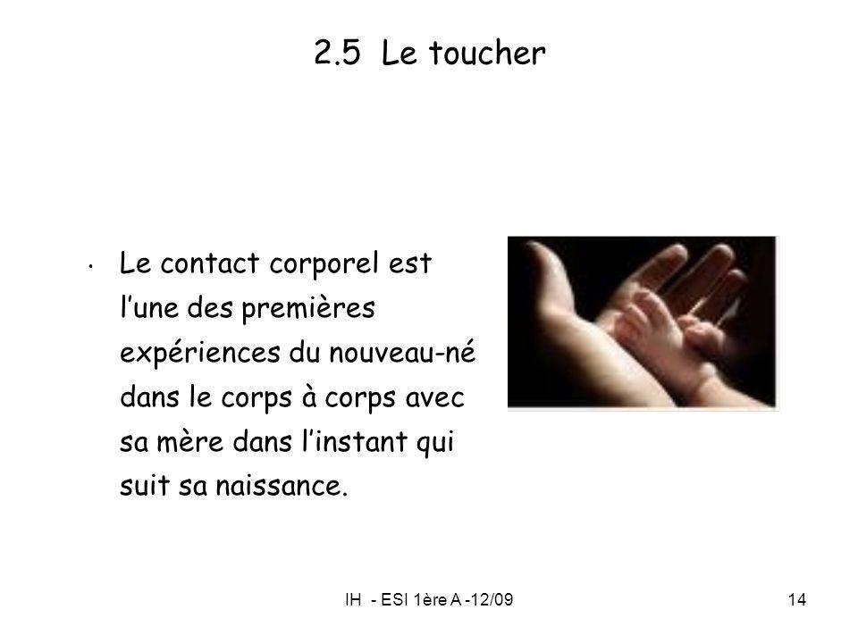 2.5 Le toucher