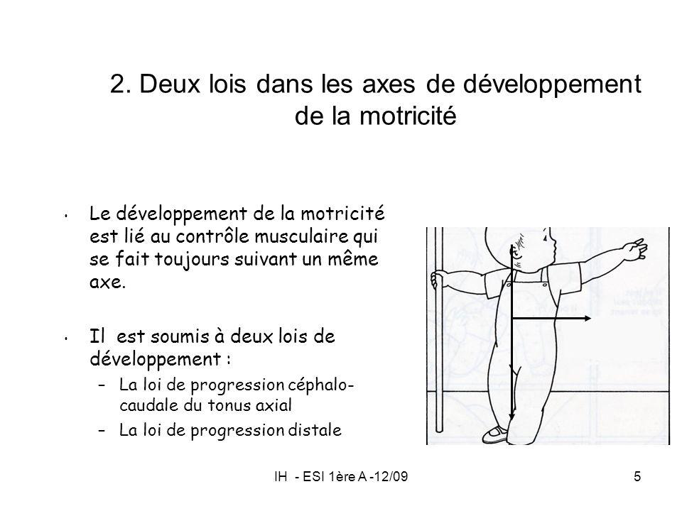 2. Deux lois dans les axes de développement de la motricité