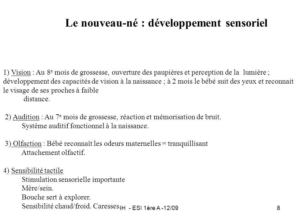 Le nouveau-né : développement sensoriel