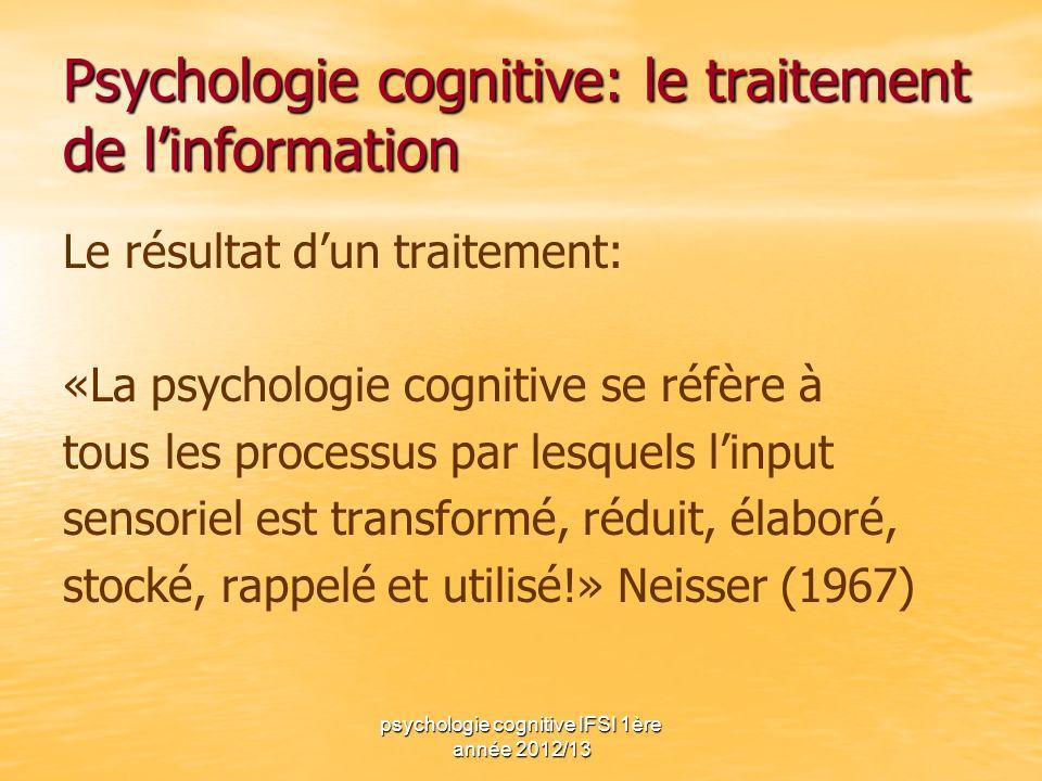 Psychologie cognitive: le traitement de l'information
