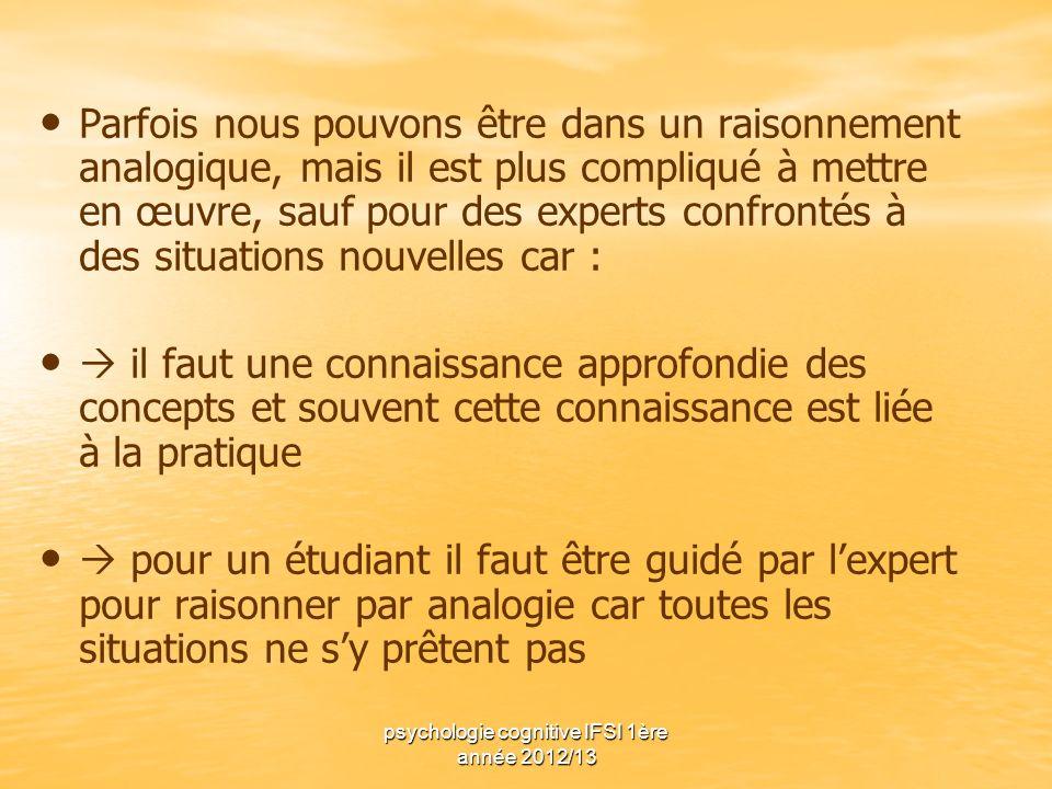 psychologie cognitive IFSI 1ère année 2012/13