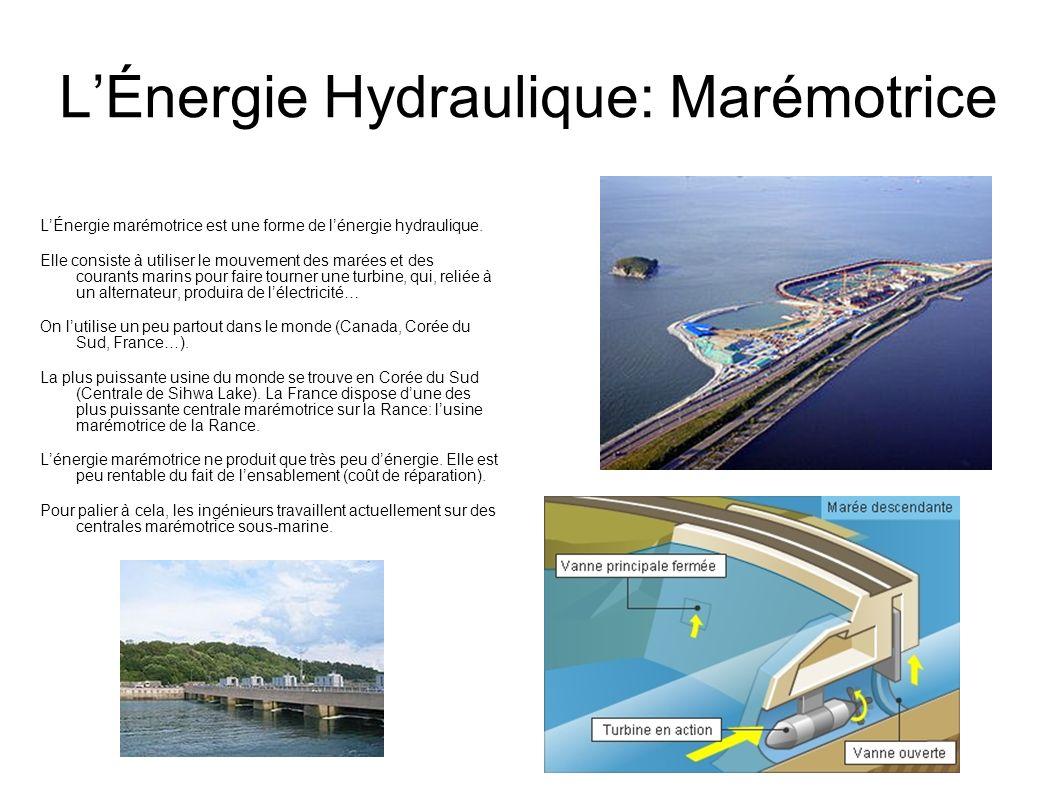 L'Énergie Hydraulique: Marémotrice
