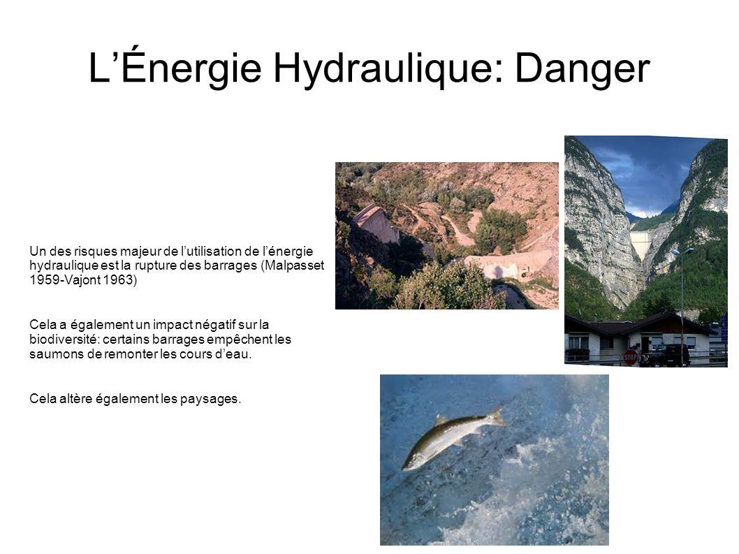 L'Énergie Hydraulique: Danger