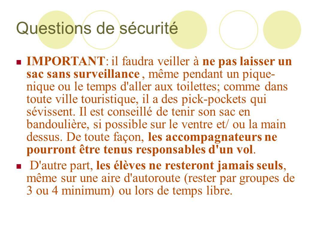 Questions de sécurité