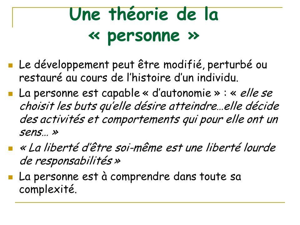 Une théorie de la « personne »
