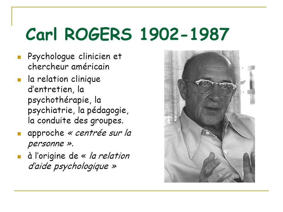 Carl ROGERS 1902-1987 Psychologue clinicien et chercheur américain