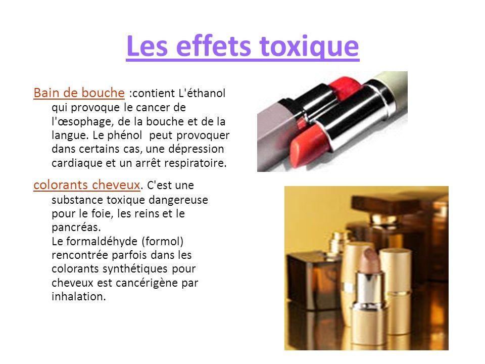Les effets toxique