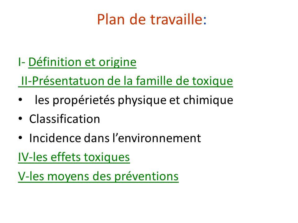 Plan de travaille: I- Définition et origine