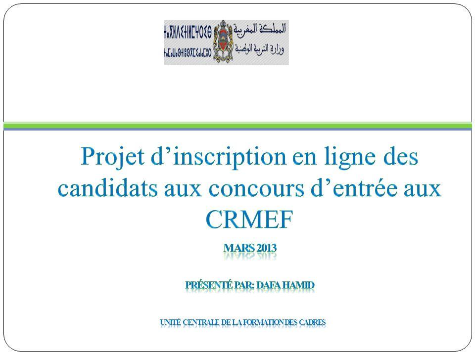 Présenté par: DAFA Hamid Unité Centrale de la Formation des Cadres