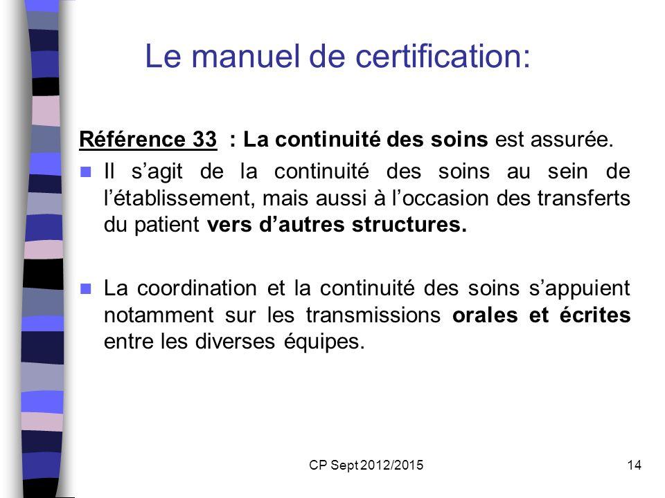 Le manuel de certification: