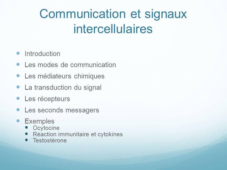 Communication et signaux intercellulaires