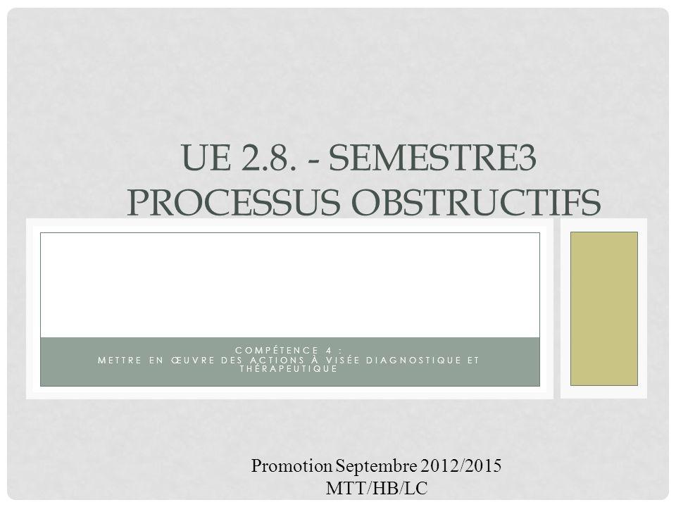UE 2.8. - Semestre3 Processus obstructifs