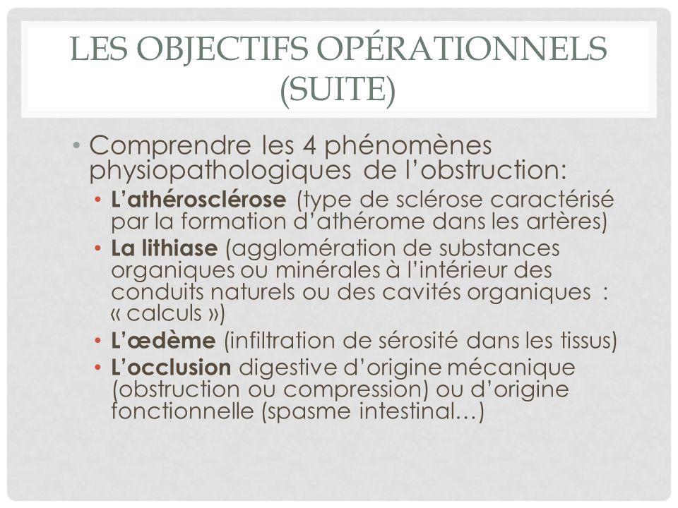 Les objectifs opérationnels (suite)