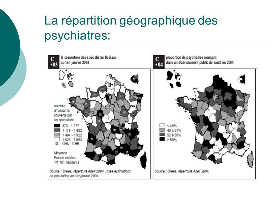 La répartition géographique des psychiatres: