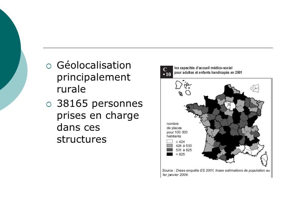 Géolocalisation principalement rurale