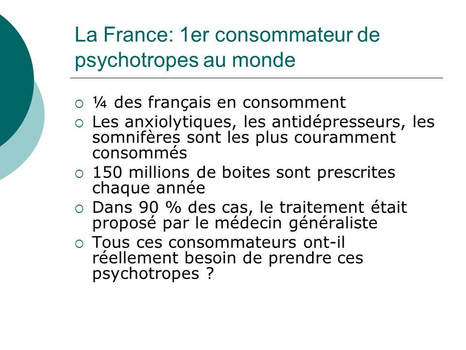 La France: 1er consommateur de psychotropes au monde
