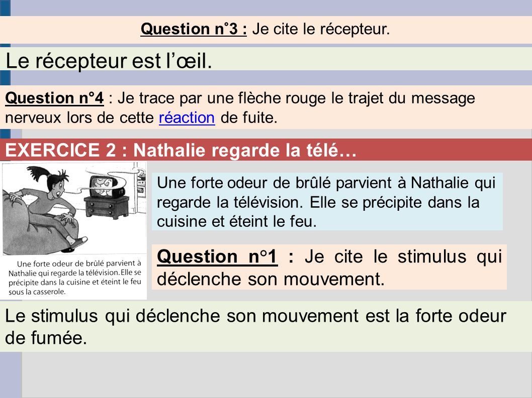 Question n°3 : Je cite le récepteur.